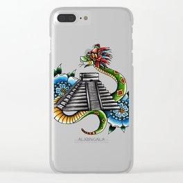 El Descenso de Kukulcan Clear iPhone Case