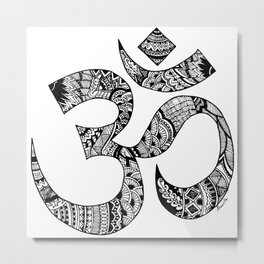 Om Zentangle Art Metal Print