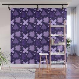 Ultra Violet Geometrix Wall Mural