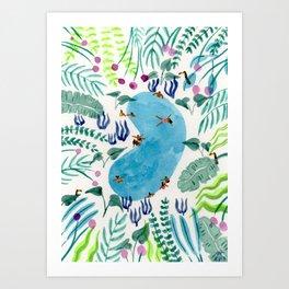 Jungle Pool dip Art Print