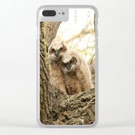 Rest your head on my shoulder Clear iPhone Case