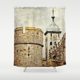 Tower of London Art Shower Curtain
