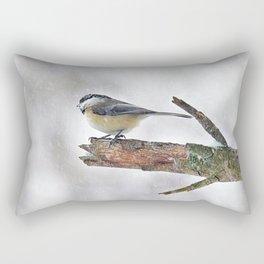 Chickadee Versus Winter Storm Stella Rectangular Pillow
