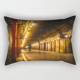 Golden Shimmer - Asakusa - Rectangular Pillow