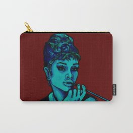 Gia as Hepburn Blue and Red Carry-All Pouch