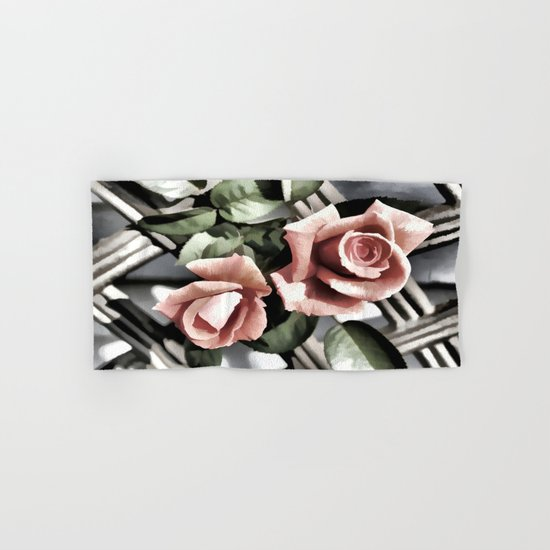 Pink Rose Garden - Painterly Hand & Bath Towel