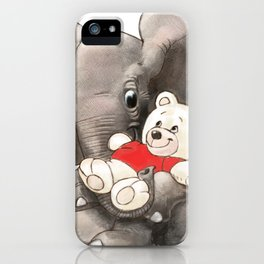 Baby Boo with Teddy iPhone Case