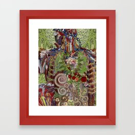 all day, everyday anatomical collage art by bedelgeuse Framed Art Print