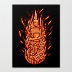 fahrenheit 451 - bradbury red variant Canvas Print