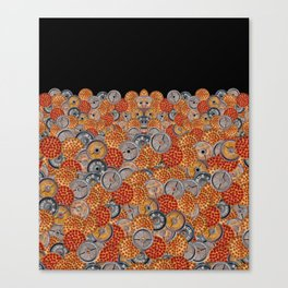 PIZZA & PLATES Canvas Print