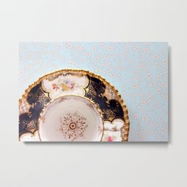 Tea Plate Metal Print