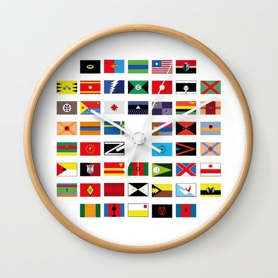 SH as flags Wall Clock