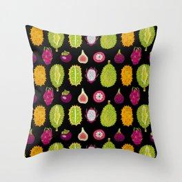 strange fruits Throw Pillow