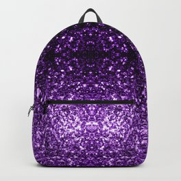 Beautiful Dark Purple glitter sparkles Backpack