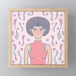 Toss Kindness Around Like Confetti Framed Mini Art Print