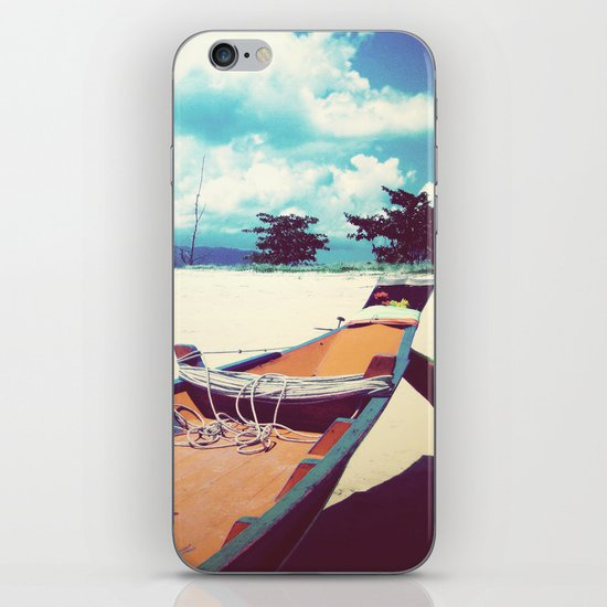 Longboat on the Shore, Thailand iPhone & iPod Skin