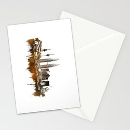 Kuala Lumpur skyline city brown Stationery Cards