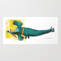 Perro Salchicha Art Print