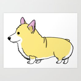 Carl the Cartoon Corgi Art Print
