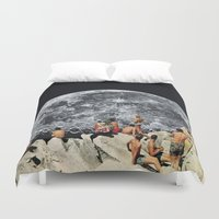contact Duvet Covers featuring MOONRISE  by Beth Hoeckel