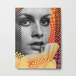 Supermodel Twiggy 2 - Supermodels of the Sixties Series Metal Print