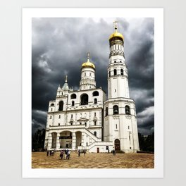 Dark clouds over Kremlin Art Print