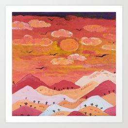 Mountains at day Art Print