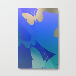 Abstarct Background with Butterflies Metal Print
