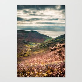 Cornish seascape, Landscape photography, Giclee print, Nautical wall decor, secret beach, Nanjizal Canvas Print