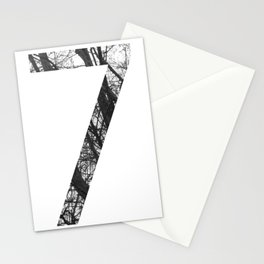 Minimal Number Seven Print With Photography Background Stationery Cards