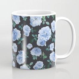 Blue Roses Flower pattern Coffee Mug