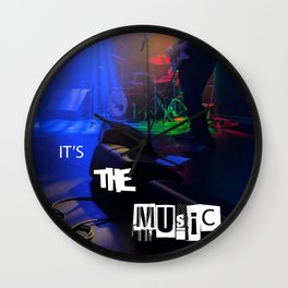 it's the MUSIC Wall Clock