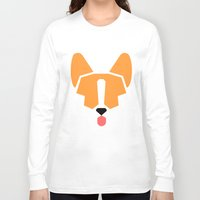 corgi Long Sleeve T-shirts featuring corgi by modern arf