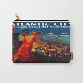 Atlantic City New Jersey Travel Carry-All Pouch