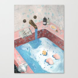 NOTHING A BATH CAN NOT FIX Canvas Print