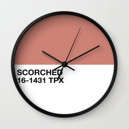 scorched Wall Clock