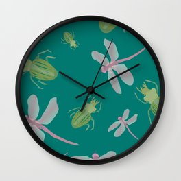 Dragonflies and Bugs Wall Clock