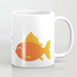 Funny fish gets fished by a tea bag Coffee Mug