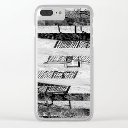Lonely Trolley Clear iPhone Case