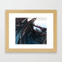 Shattered Wavez Framed Art Print