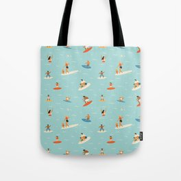 Surfing kids Tote Bag