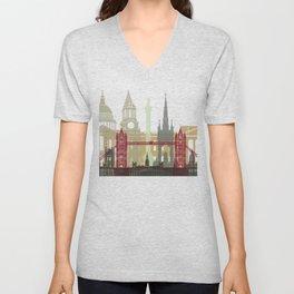 London skyline poster Unisex V-Neck