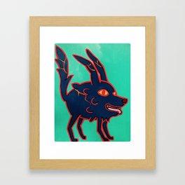 Flame Wolf Framed Art Print