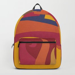 Colorful Sun Vintage Abstract Poster Backpack