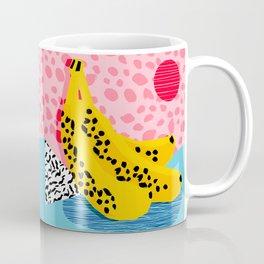 What It Is - memphis throwback banana fruit retro minimal pattern neon bright 1980s 80s style art Coffee Mug