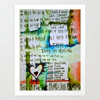 For the Hearts Still Beating Art Print