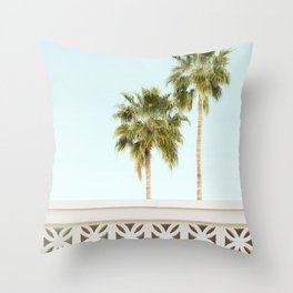 Palm Springs Breeze Block I Throw Pillow