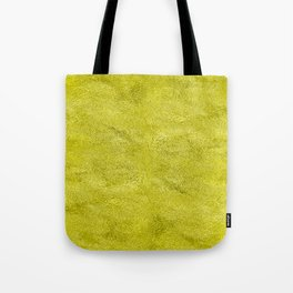 Neon Highlighter Yellow Metallic Foil Tote Bag