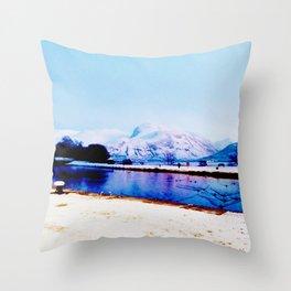 Corpach Sea loch, Highlands of Scotland Throw Pillow