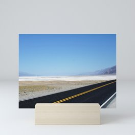Lonely Road in Death Valley, CA Mini Art Print